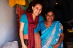 Amy with Mary, a local tailor.