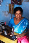 This is Mary who is a tailor on Princess St in Fort Kochi.  Mary is Deaf and can't speak but still manages to run a tailoring shop and does an exceptional job.
