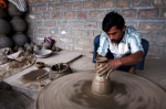 A potter works his magic, Rajasthan, India.